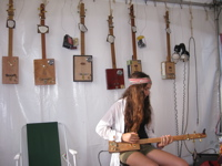 McTrustry Cigar Box Guitars at the Byron Bay Bluesfest 2011