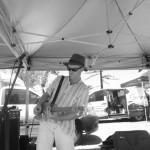 Cigar box guitar blues