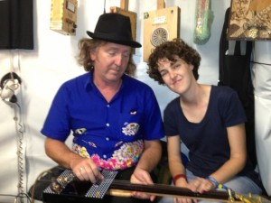 Jim Mogine from The Break and Midnight Oil and Kate Plummer, great Sydney muso.