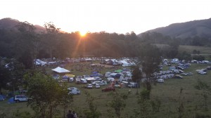 Sunset over Mitchell Creek Festival