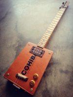 J Lee Guitars 4 String Fretted Cigar Box Guitar