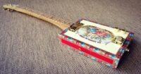 JLee 3 String Fretted Cigar Box Guitar